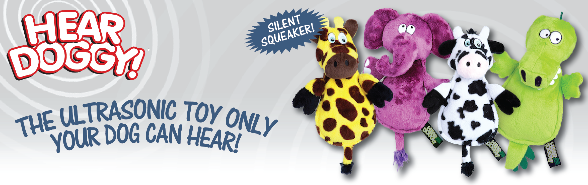 Hear Doggy squeakless toys